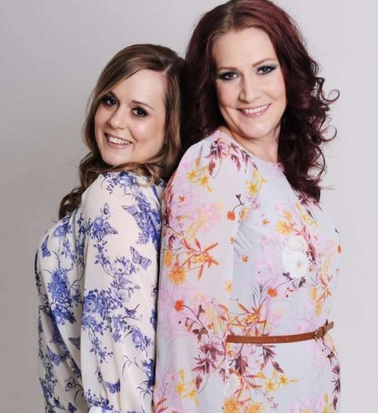 Me and Laura all dressed up and made up on a photo shoot a few years ago - Mum Guilt
