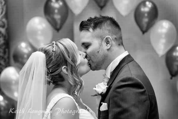 Lisa and Daz sharing their first kiss as husband and wife - Love
