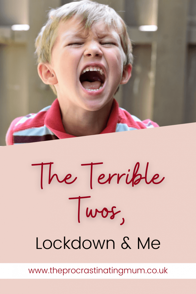 The terrible twos, lockdown and me pin