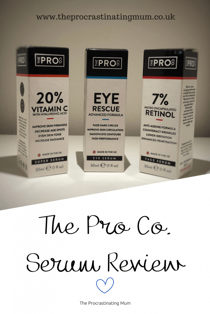 The Pro Co. Serum review Pinterest pin