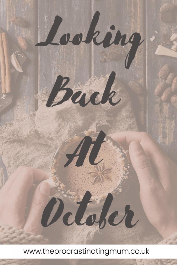 Looking Back At October Pinterest pin