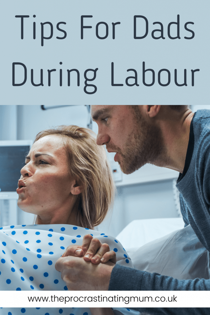 Tips For Dads During Labour Pinterest pin