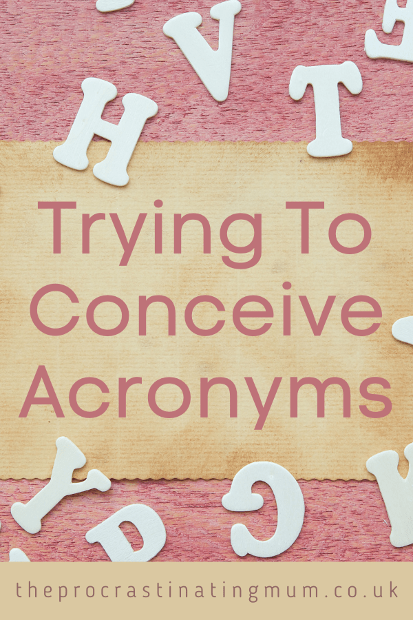 Trying To Conceive Acronyms Pinterest Pin