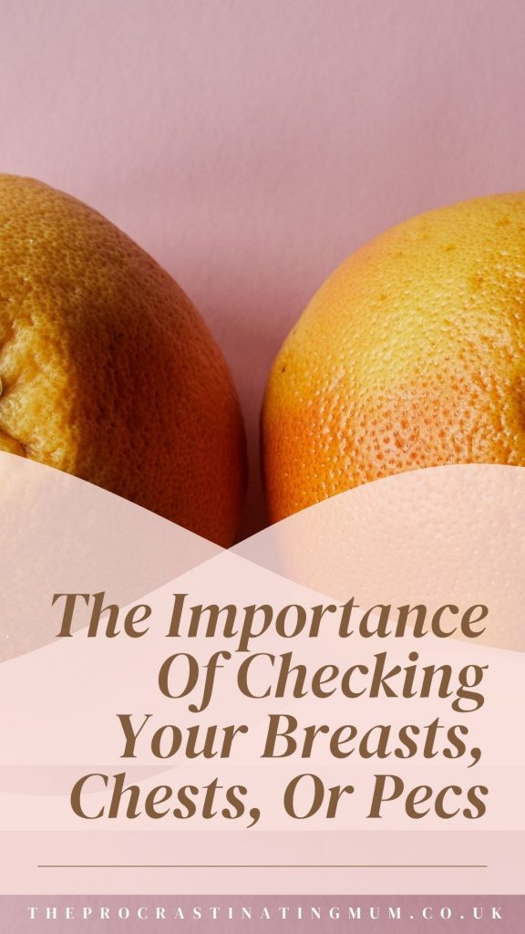 The Importance Of Checking Your Breasts, Chests, Or Pecs Pinterest Pin